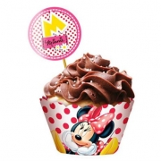 Cupcake Wrapper c/12 Minnie - Regina