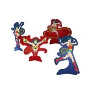 Decoração de Mesa Mulher Maravilha c/8 - Festcolor