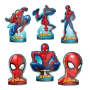 Decoração De Mesa Spider Man c/6 - Regina