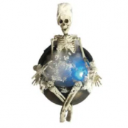 Esqueleto Decorativo com Luz Tomando Banho - Matsumoto