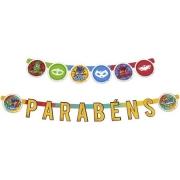 Faixa Parabéns PJ Masks - Regina