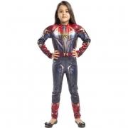 Fantasia Infantil Capitã Marvel M - Regina