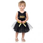Fantasia Mulher Batgirl Bebê P - Sulamericana