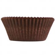 Forminha p/Mini Cupcake Marrom c/54 - Ultrafest