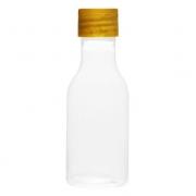 Garrafinha 50ml Transparente com Tampa Dourada c/10 - Mirandinha