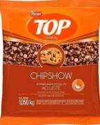 Gotas forneável top chipshow ao leite 1,050kg