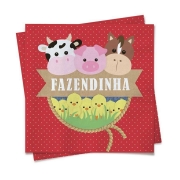 Guardanapo 25x25 c/20 Fazendinha - Cromus