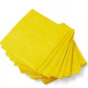 Guardanapo de Papel Folha Dupla 24x24  c/20 Amarelo - Silver Festas