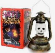Lampião Caveira Branca Halloween