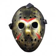 Máscara Jason Metalizada Dourada