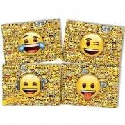 Painel 4 Laminas Decorativo Emoji - Festcolor