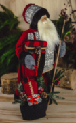 Papai Noel Lenhador em Pé 80cm
