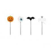 Pick Decorativo Doces ou Travessuras Halloween c/12 - Cromus