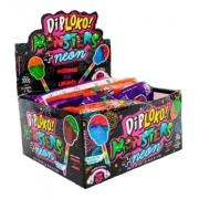Pirulito Dip Loko Monsters Neon c/30 300g - Danilla