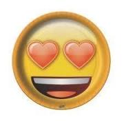 Prato 18cm Emoji c/8 - Festcolor