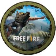 Prato 18cm Free Fire c/8 - Festcolor