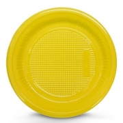 Prato Descartável 15cm Amarelo c/10 - Kaixote