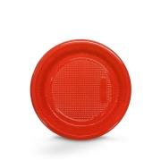 Prato Descartável 15cm Vermelho c/10 - Kaixote