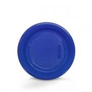 Prato Descartável 18cm Azul Escuro c/10 - Kaixote