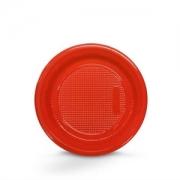 Prato Descartável 18cm Vermelho c/10 - Kaixote