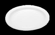Prato Descartável 21cm Branco c/10 - Kaixote