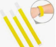 Pulseira de Identificação Para Festa Amarela c/50 - Popper
