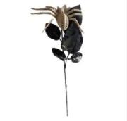 Rosa Negra Decorativa Com Aranha - Matsumoto