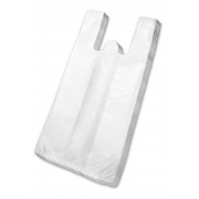 Sacola Plástica Branca 25x35cm c/100 - Rosso