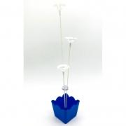 Suporte para Balão Cachepot c/4 Hastes Azul Turquesa - Nissi Plás