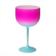 Taça Gin Shelby Fantasy Rosa e Tiffany 500ml - Neoplas
