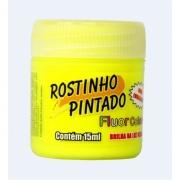 Tinta Facial Fluorescente 15ml Amarelo - Rostinho Pintado