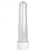 Tubete Plástico Transparente c/ Tampa Branca 13cm c/10 - Mirandinha