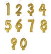 Vela de Aniversário com Glitter Dourada - Junco