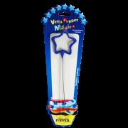 Vela de Aniversário Mágica Estrela Azul - Popper