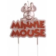 Vela de Aniversário Minnie Glitter Rose - Silver Festas