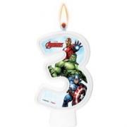 Vela Numeral Avengers Número 3 - Regina