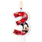 Vela Numeral Mickey Número 3 - Regina