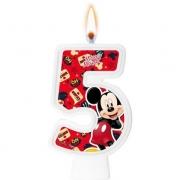 Vela Numeral Mickey Número 5 - Regina
