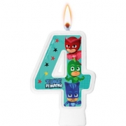 Vela Numeral PJ Masks Número 4 - Regina