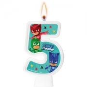 Vela Numeral PJ Masks Número 5 - Regina