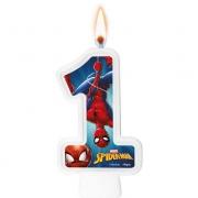 Vela Numeral Spider Man Número 1 - Regina