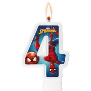 Vela Numeral Spider Man Número 4 - Regina