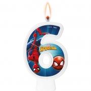 Vela Numeral Spider Man Número 6 - Regina