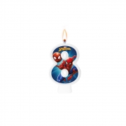 Vela Numeral Spider Man Número 8 - Regina
