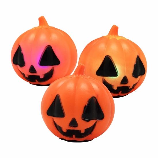 Abóbora de Halloween Decorativa com Pisca Pisca - YDH