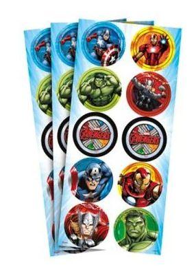 Adesivo Decorativo Avengers c/3 Cartelas - Regina