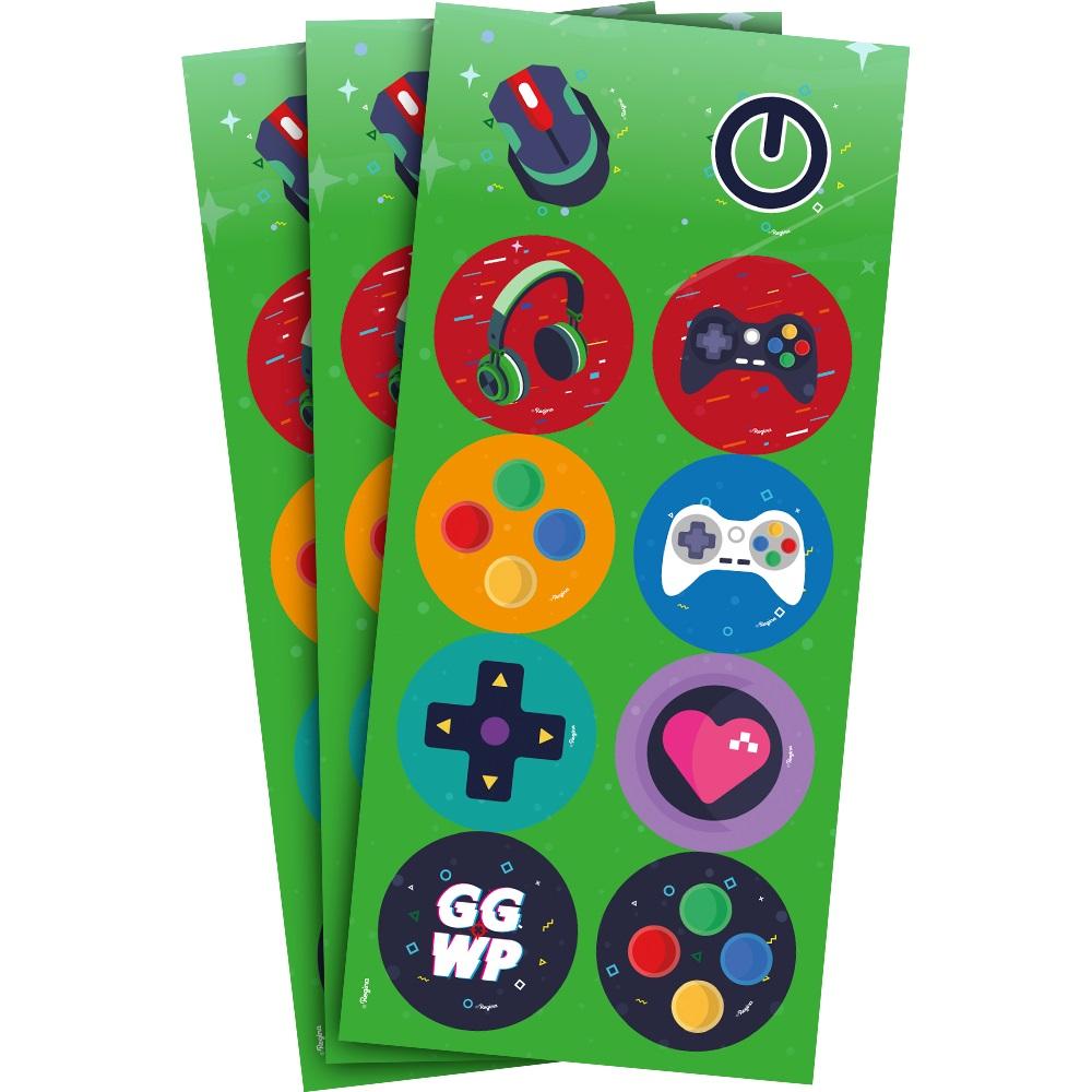 Adesivo Decorativo Games c/3 Cartelas - Regina