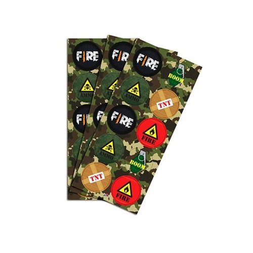 Adesivo Redondo Decorativo Free Fire c/30  - Junco