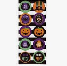 Adesivo Redondo Decorativo Happy Halloween - Cromus