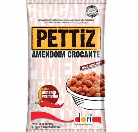 Amendoim Crocante PETTIZ Pimenta Vermelha 500g - Dori
